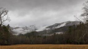 De winter in Cataloochee-Vallei, het Nationale Pari van Great Smoky Mountains Stock Afbeelding
