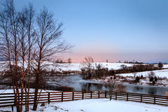 De winter in Centraal Kentucky Stock Afbeeldingen