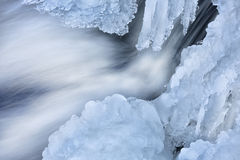 De winter, Comstock-Kreekcascade Royalty-vrije Stock Fotografie