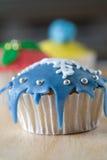 De winter cupcake Royalty-vrije Stock Afbeeldingen