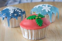 De winter cupcakes Stock Afbeelding