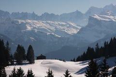 De winter in de Alpen Royalty-vrije Stock Fotografie