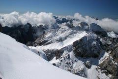 De winter in de bergen Royalty-vrije Stock Afbeelding