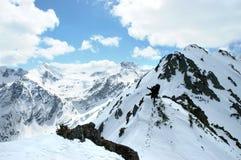 De winter in de bergen Royalty-vrije Stock Fotografie