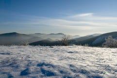 De winter in de bergen Royalty-vrije Stock Foto's
