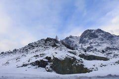 De winter in de bergen Royalty-vrije Stock Afbeeldingen
