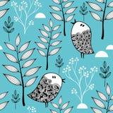 De winter in de bos vectorillustratie Stock Afbeelding