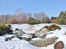 De winter in de botanische tuin Stock Afbeeldingen