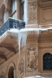 De winter De grote ijskegels Royalty-vrije Stock Foto