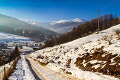 De winter in de Karpaten Stock Foto's