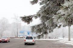 De winter in de stad royalty-vrije stock foto