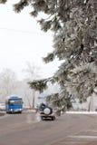 De winter in de stad royalty-vrije stock afbeelding