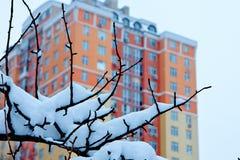 De winter in de stad Stock Afbeeldingen