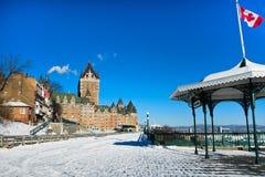 De winter in de Stad van Quebec Royalty-vrije Stock Afbeelding
