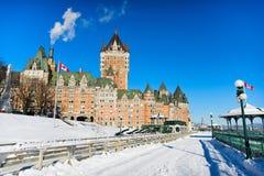 De winter in de Stad van Quebec Royalty-vrije Stock Foto's