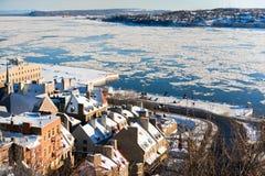 De winter in de Stad van Quebec Stock Fotografie