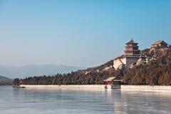 De winter in de Zomerpaleis van Peking Stock Foto