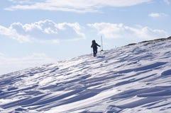De winter die in Berg, Bulgarije wandelen Royalty-vrije Stock Foto