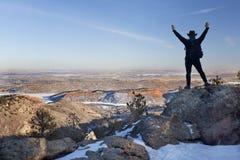 De winter die in Colorado wandelt royalty-vrije stock fotografie