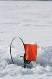 Een de winter visserij Stock Afbeelding