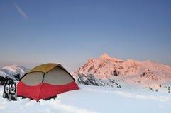 De winter die op punt Huntoon op de Rand van de Kunstenaar kampeert Royalty-vrije Stock Afbeeldingen