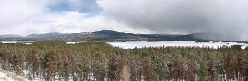 De winter in Dillon Lake Colorado stock afbeelding
