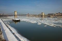 De winter Donau Stock Foto's