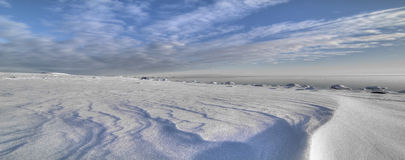 De winter door het overzees Stock Foto's