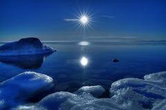De winter door het overzees Stock Fotografie