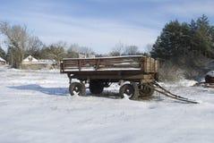 De winter in dorp Stock Afbeeldingen