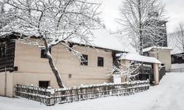 De winter in dorp Royalty-vrije Stock Fotografie