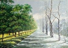De winter en de zomer Stock Afbeeldingen
