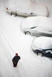 De winter en vervoer royalty-vrije stock afbeeldingen