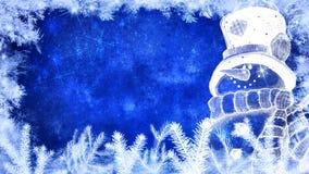 De winter en vrolijke Kerstmisachtergrond Royalty-vrije Stock Fotografie