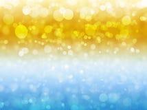 De winter en de Zomer abstract ontwerp als achtergrond met blury bokeh Royalty-vrije Stock Afbeelding