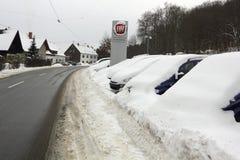 De winter in Europa Duitsland Saarland Stock Afbeelding