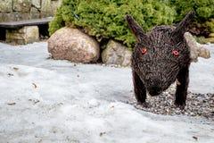 De winter everzwijn na sneeuw Royalty-vrije Stock Fotografie