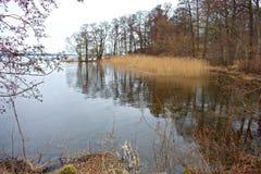 De winter in Fredensborg denemarken Stock Afbeelding