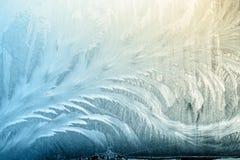 De winter frostwork op vensterglas royalty-vrije stock afbeelding