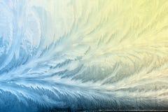 De winter frostwork op vensterglas stock afbeelding