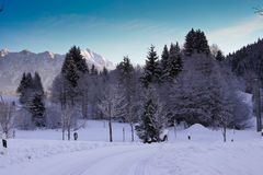 De winter in Garmisch Stock Afbeelding