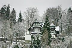 De winter in Garmisch Stock Foto's