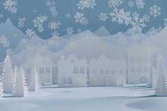 De winter gelukkige vakantie vector illustratie