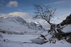 De winter, Glen Coe Stock Afbeeldingen