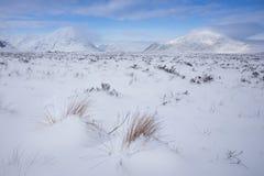 De winter, Glen Coe Stock Foto's