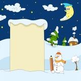 De winter grappige illustratie Royalty-vrije Stock Fotografie