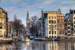 De winter Groenburgwal Royalty-vrije Stock Afbeelding