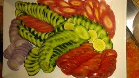 De winter groene salade stock foto