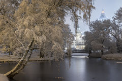 De winter in Hanover Stock Foto