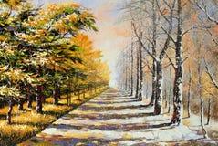 De winter-herfst royalty-vrije illustratie